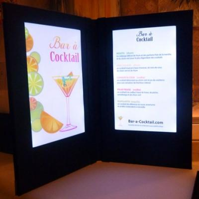 Carte de menu led